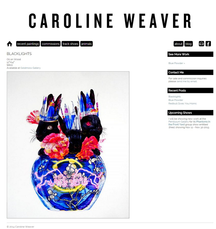 Caroline Weaver Website