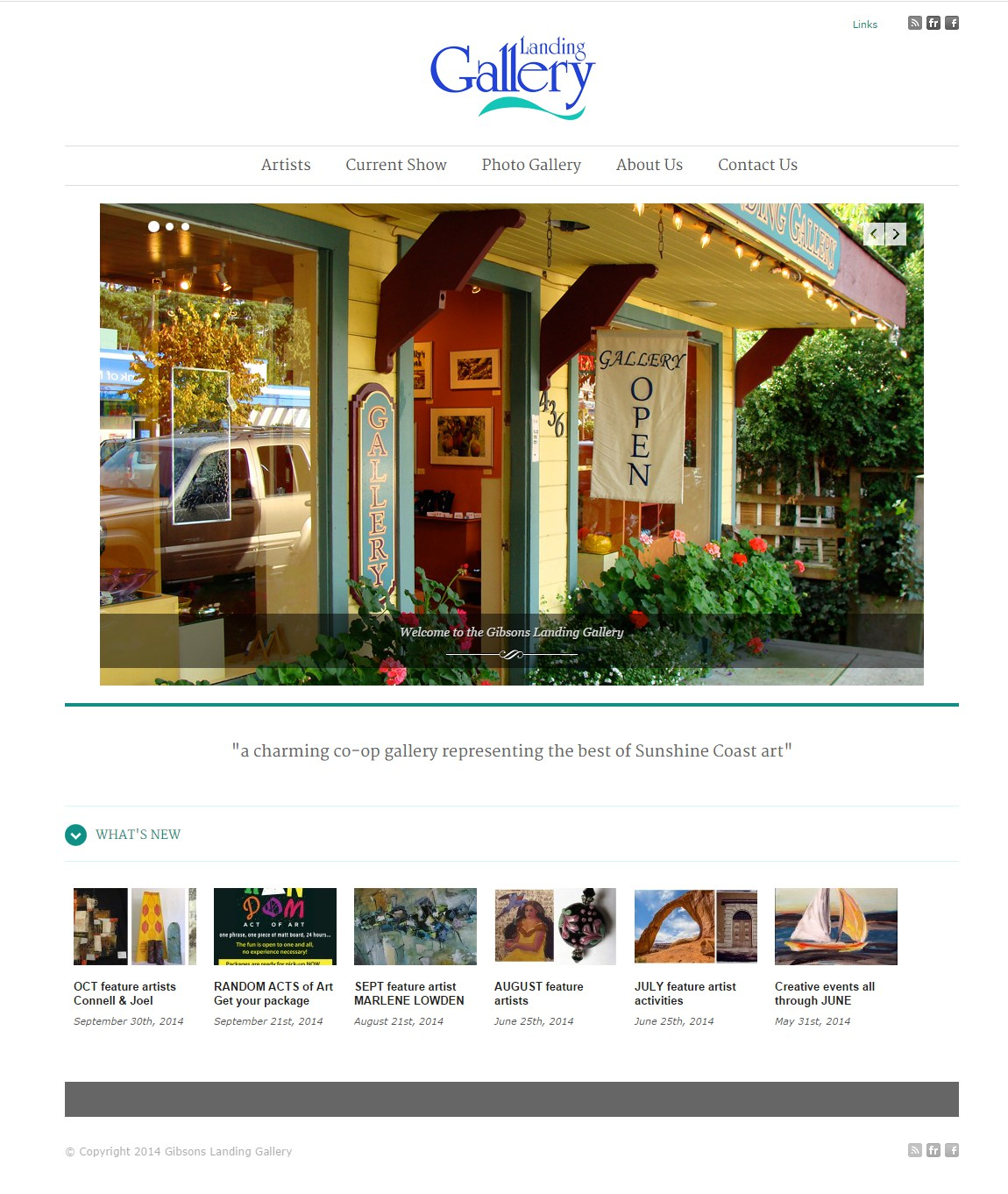 The Landing Gallery Website Design